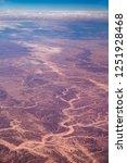 aerial view of the sinai desert ... | Shutterstock . vector #1251928468