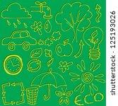vector set of hand drawings on...   Shutterstock .eps vector #125193026