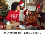 family with the song together... | Shutterstock . vector #1251934642
