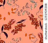 seamless pattern with hand... | Shutterstock . vector #1251939208