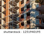 brick house from a red brick ... | Shutterstock . vector #1251940195