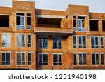 brick house from a red brick ... | Shutterstock . vector #1251940198