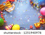 colorful carnival or birthday... | Shutterstock . vector #1251940978