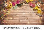 colorful carnival or birthday... | Shutterstock . vector #1251941002