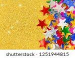 beautiful golden festive... | Shutterstock . vector #1251944815