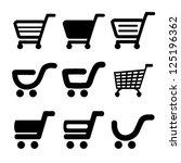 vector black simple shopping... | Shutterstock .eps vector #125196362