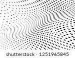 wavy dotted lines background.... | Shutterstock .eps vector #1251965845