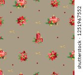 seamless christmas pattern....   Shutterstock . vector #1251967552