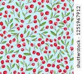 seamless pattern with red...   Shutterstock . vector #1251967912
