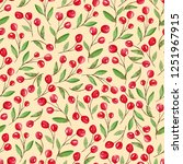seamless pattern with red...   Shutterstock . vector #1251967915