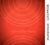 red background with ornaments... | Shutterstock .eps vector #125199038