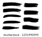 painted grunge stripes set.... | Shutterstock .eps vector #1251990595