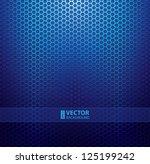 blue metallic grid background.... | Shutterstock .eps vector #125199242