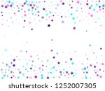 flying stars confetti holiday... | Shutterstock .eps vector #1252007305