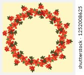 floral round frame from gallant ... | Shutterstock .eps vector #1252008625