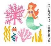 illustration of cute little... | Shutterstock .eps vector #1252029478