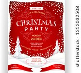 poster for christmas party. red ... | Shutterstock .eps vector #1252032508