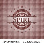 spire red emblem or badge with... | Shutterstock .eps vector #1252033528