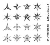 stars of wind roses collection...   Shutterstock .eps vector #1252036135