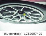 close up car mag wheel... | Shutterstock . vector #1252057402