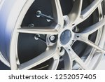 close up car mag wheel... | Shutterstock . vector #1252057405