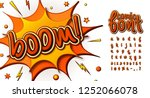 colorful comic font  kid's... | Shutterstock .eps vector #1252066078