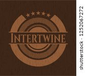 intertwine wood emblem | Shutterstock .eps vector #1252067272