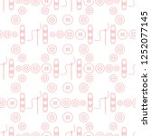 seamless pattern with needles ... | Shutterstock .eps vector #1252077145