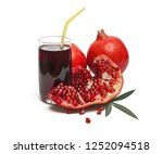 pomegranate with pomegranate... | Shutterstock . vector #1252094518