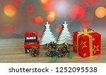 christmas ornaments on abstract ...   Shutterstock . vector #1252095538