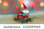 christmas ornaments on abstract ...   Shutterstock . vector #1252095565