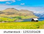 beautiful  scene of mikladalur ... | Shutterstock . vector #1252101628
