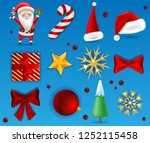 set of winter holidays items ... | Shutterstock .eps vector #1252115458