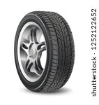 tire car vector isolated on... | Shutterstock .eps vector #1252122652