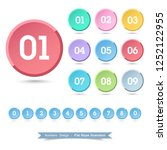 numbers  icon set with full... | Shutterstock .eps vector #1252122955