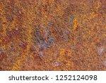 rust on metallic surface.... | Shutterstock . vector #1252124098