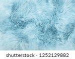 Sheep Fur. Blue Colored...