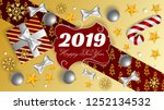 happy new year 2019  ads cover  ... | Shutterstock .eps vector #1252134532