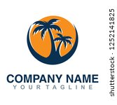 template for logo. san  sea and ... | Shutterstock .eps vector #1252141825