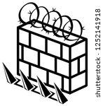 wall reinforced security...   Shutterstock .eps vector #1252141918