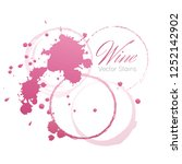 red wine stains and blots from... | Shutterstock . vector #1252142902