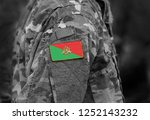 flag of french foreign legion... | Shutterstock . vector #1252143232