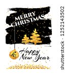 abstract festive christmas and... | Shutterstock . vector #1252143502