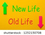 old life and new life. new life ... | Shutterstock . vector #1252150708