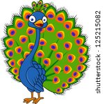 peacock cartoon | Shutterstock .eps vector #125215082