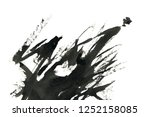 abstract ink background. marble ... | Shutterstock . vector #1252158085