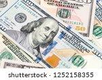 close up of new hundred dollar...   Shutterstock . vector #1252158355