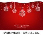 red festive christmas and new... | Shutterstock .eps vector #1252162132