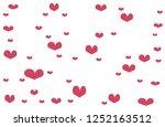 vector simple heart shaped on... | Shutterstock .eps vector #1252163512