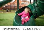 cute little girl having fun on...   Shutterstock . vector #1252164478